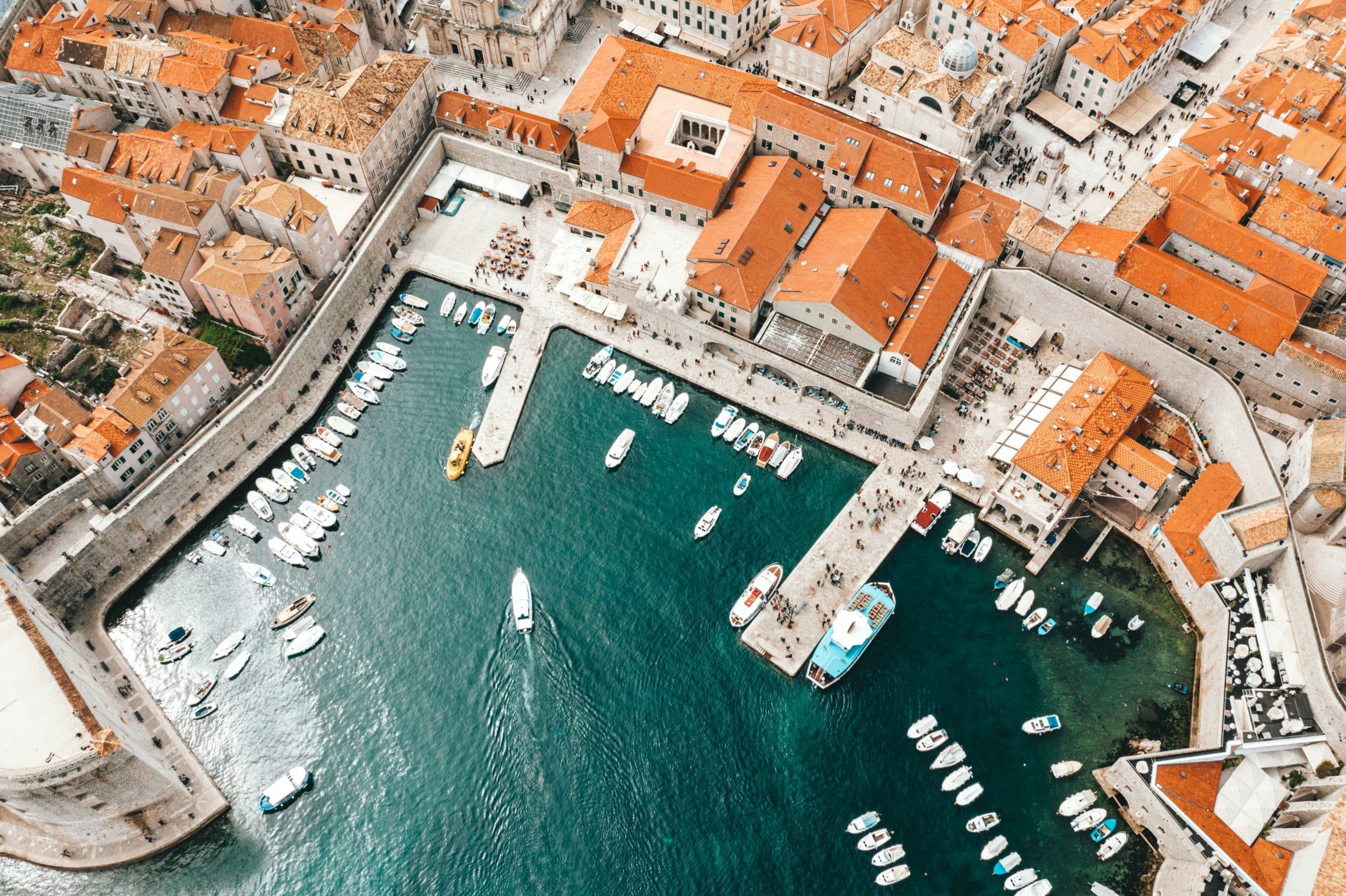 Dubrovniko gynybinė tvirtovė, iš paukščio skrydžio