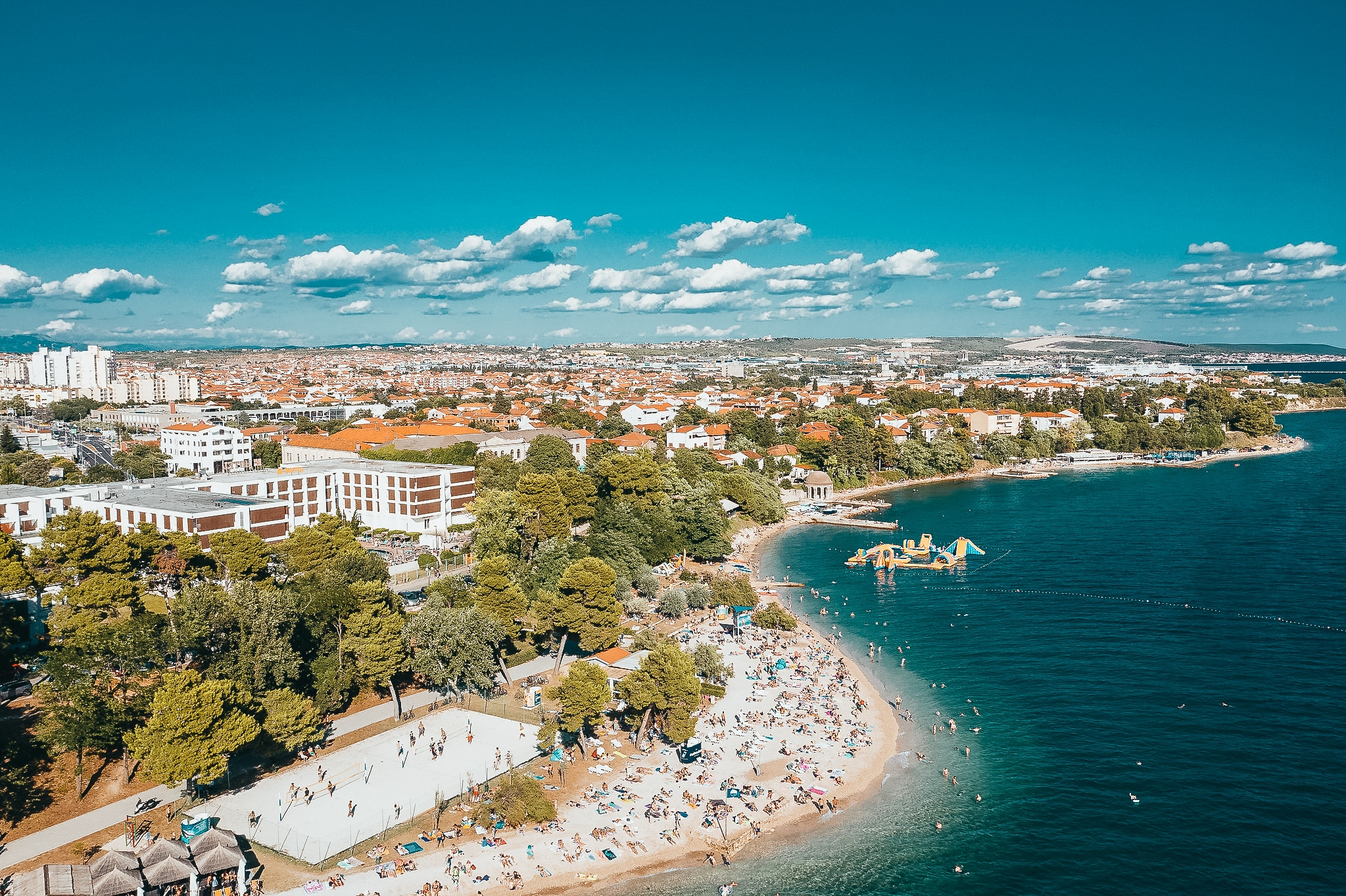 zadar zadaras kroatija papludimys