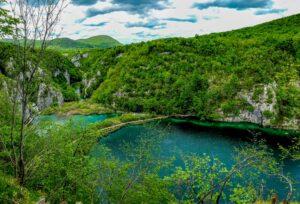 Plitvicu ezeru parkas plitvica kroatija