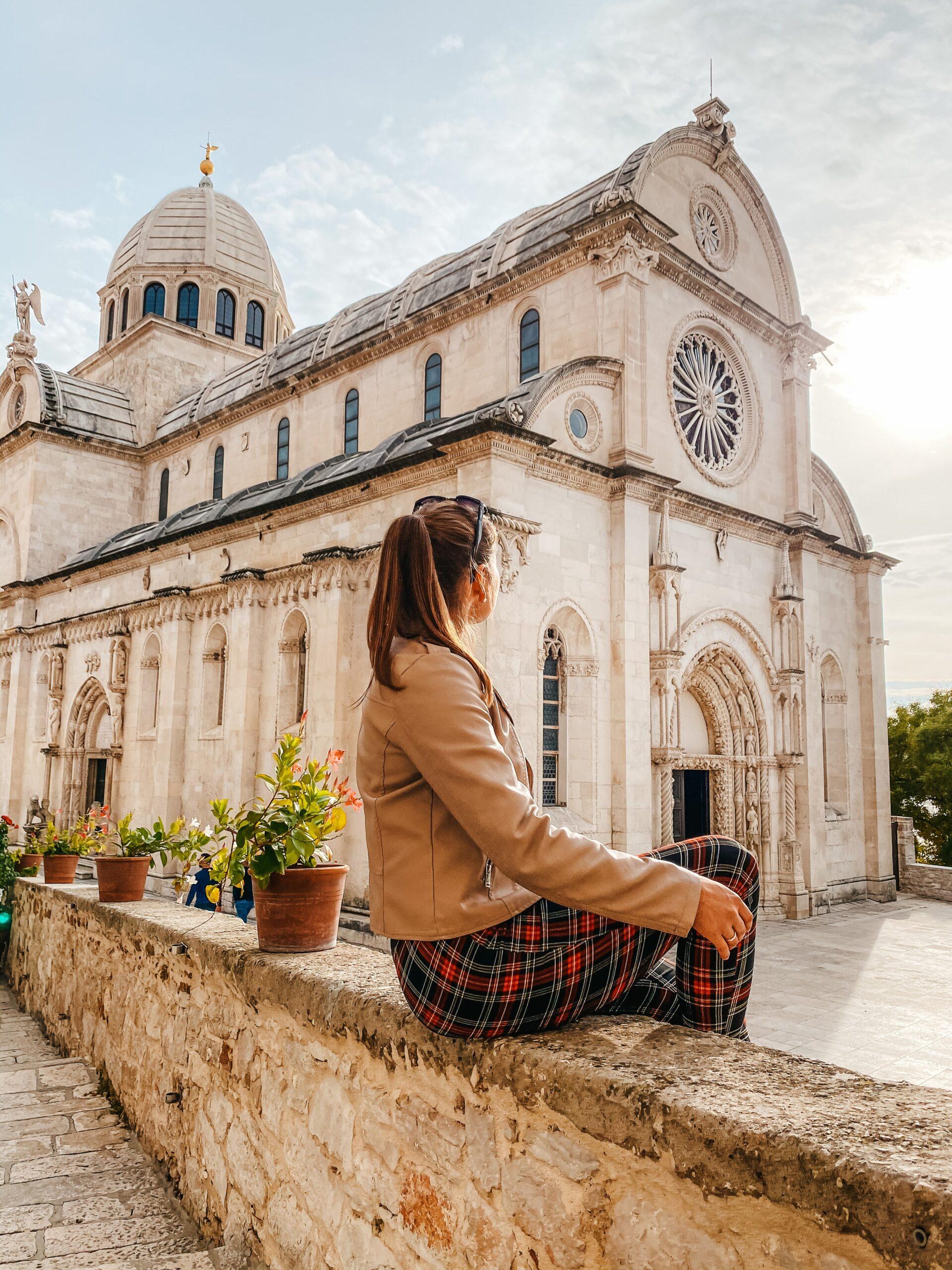 šibenikas kroatija sibenik katedra