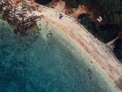 Zlatni Rt papludimys Rovinj Kroatija